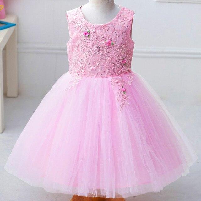 Venta al por menor Exquisito Bordado Vestidos de Niña Elegante Bata ...