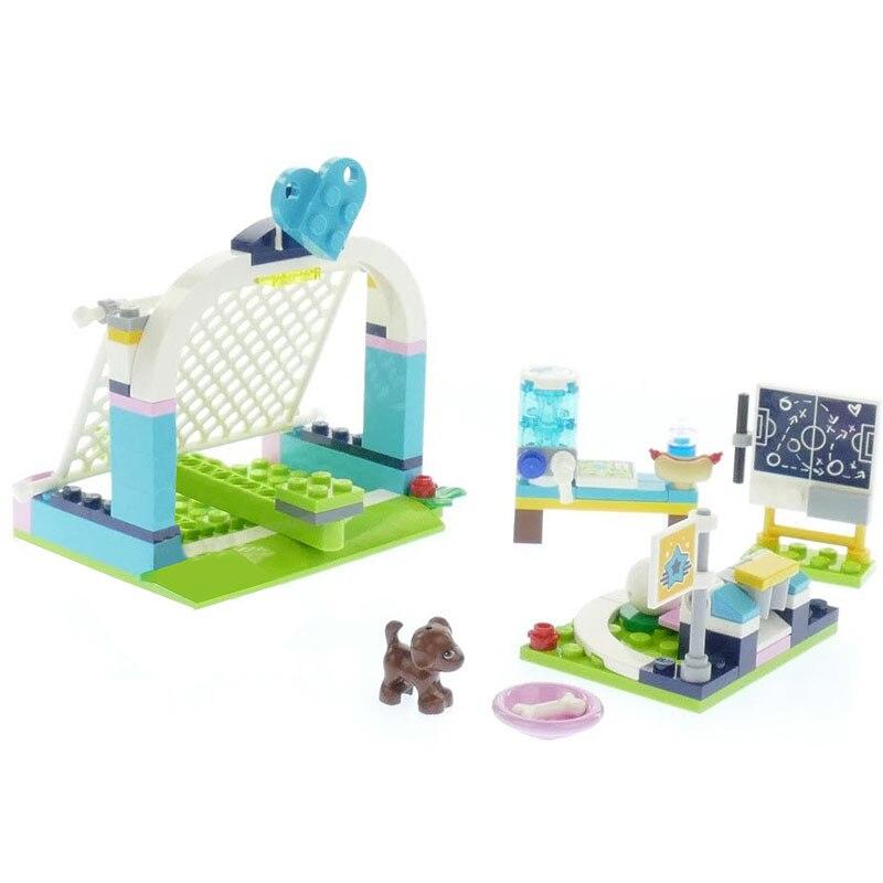 Lepin 01055 New 133Pcs Girls Series The Soccer Practice Set 41330 Set Building Blocks Bricks Educational Funny Toys For Kid Gift