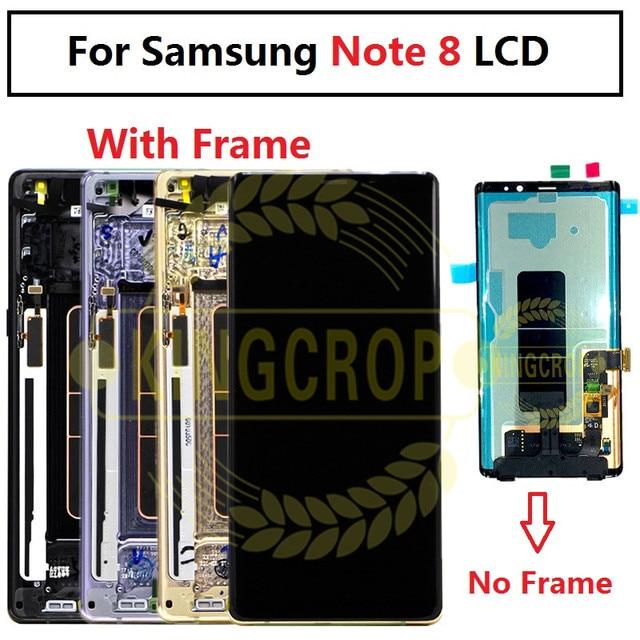 Pantalla Lcd táctil para Samsung galaxy Note 8 N950F N950D N950DS N950U, montaje de digitalizador con marco para Samsung Note 8 lcd