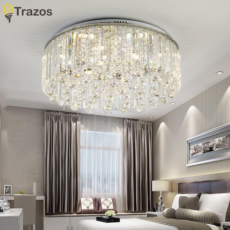 Cascade chandelier Ceiling Lamp Crystal Living Room Foyer Light Lustre Fixtures Restaurant Luminarias Luxury Ceiling Light