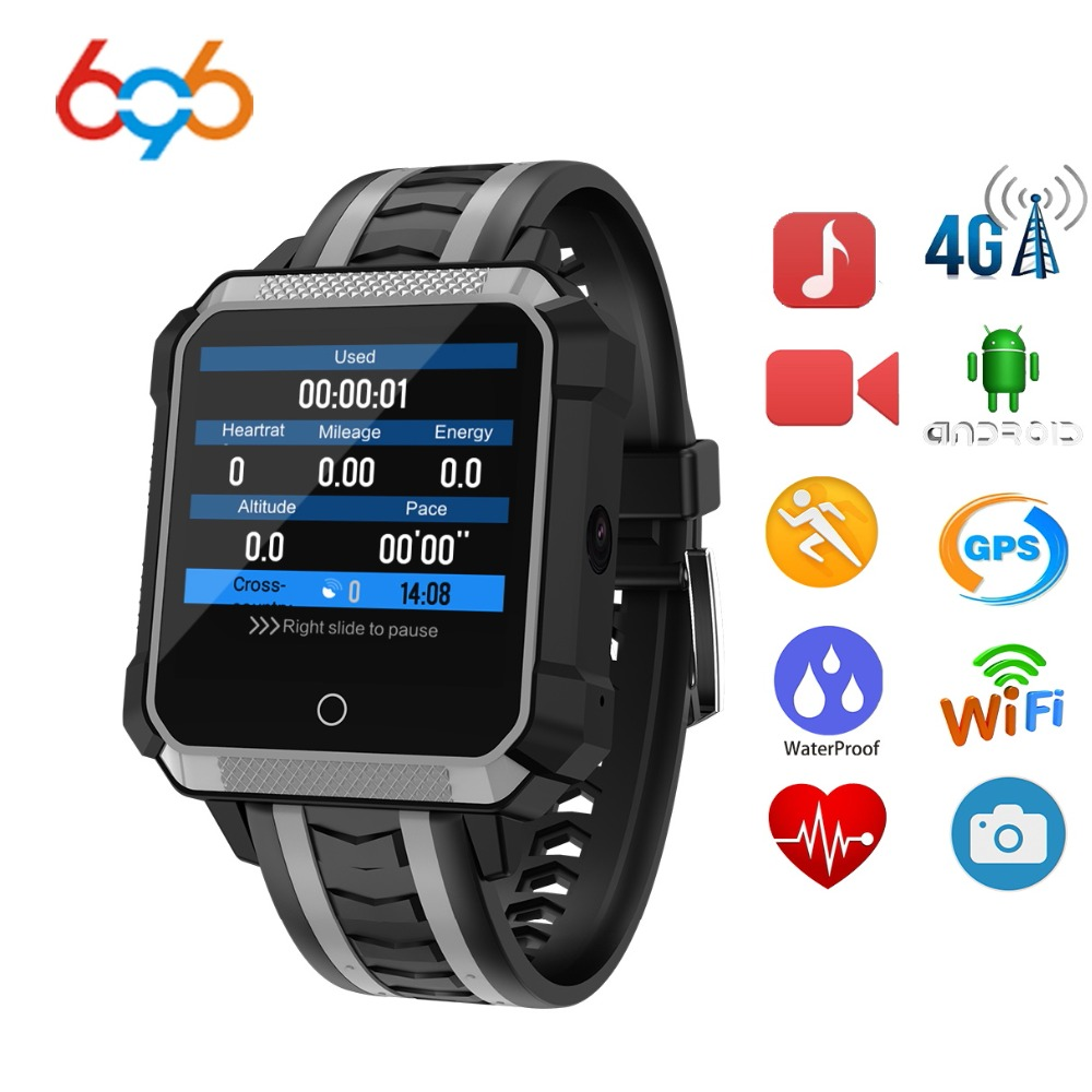 696 NOUVEAU H7 Montre Smart Watch IP68 Étanche Hommes Android 4g Bluetooth Sport Étanche MTK6737 Caméra Extérieure Montre Pour IOS android
