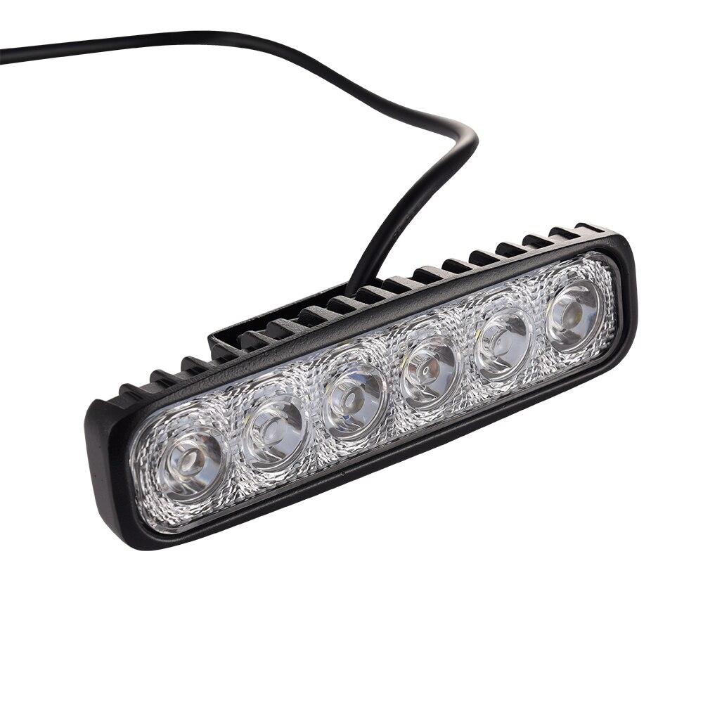 2PCS DRL 18W LED Light Bar Work Light Spot Light Lamp Fog Driving Light Bar For 4x4 Offroad SUV Car Truck Trailer Tractor UTV