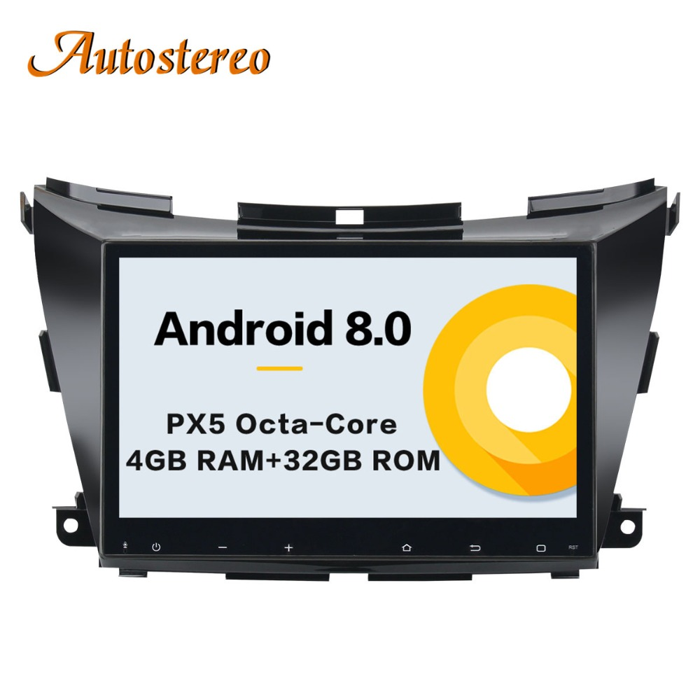 Android 8.0 Car No DVD Player GPS navigation for NISSAN Murano 2015+ multimedia player auto stereo head unit radio tape recorder original awei es q3 headset noise isolation bests sound in ear style hifi earphones for phone mp3 mp4 players 3 5mm jack