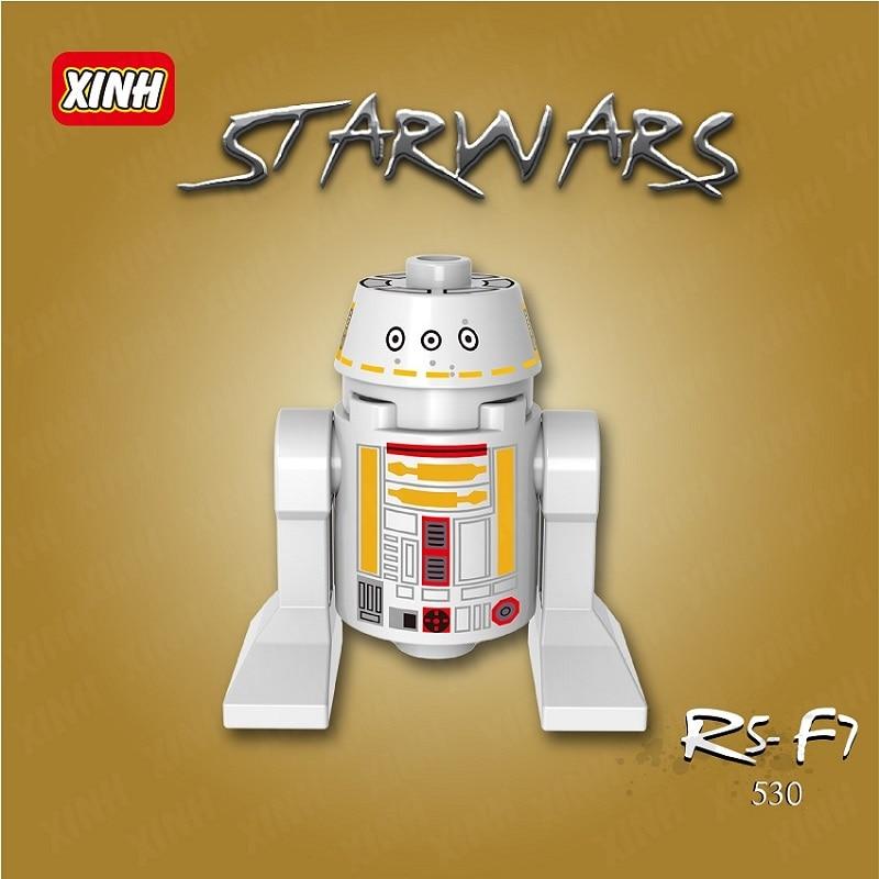 XH 530 Single Sale Super Heroes R2D2 BB8 RSF7 SW424 Star Wars Classic Smart Robot Building Blocks Bricks Best Children Gift Toys