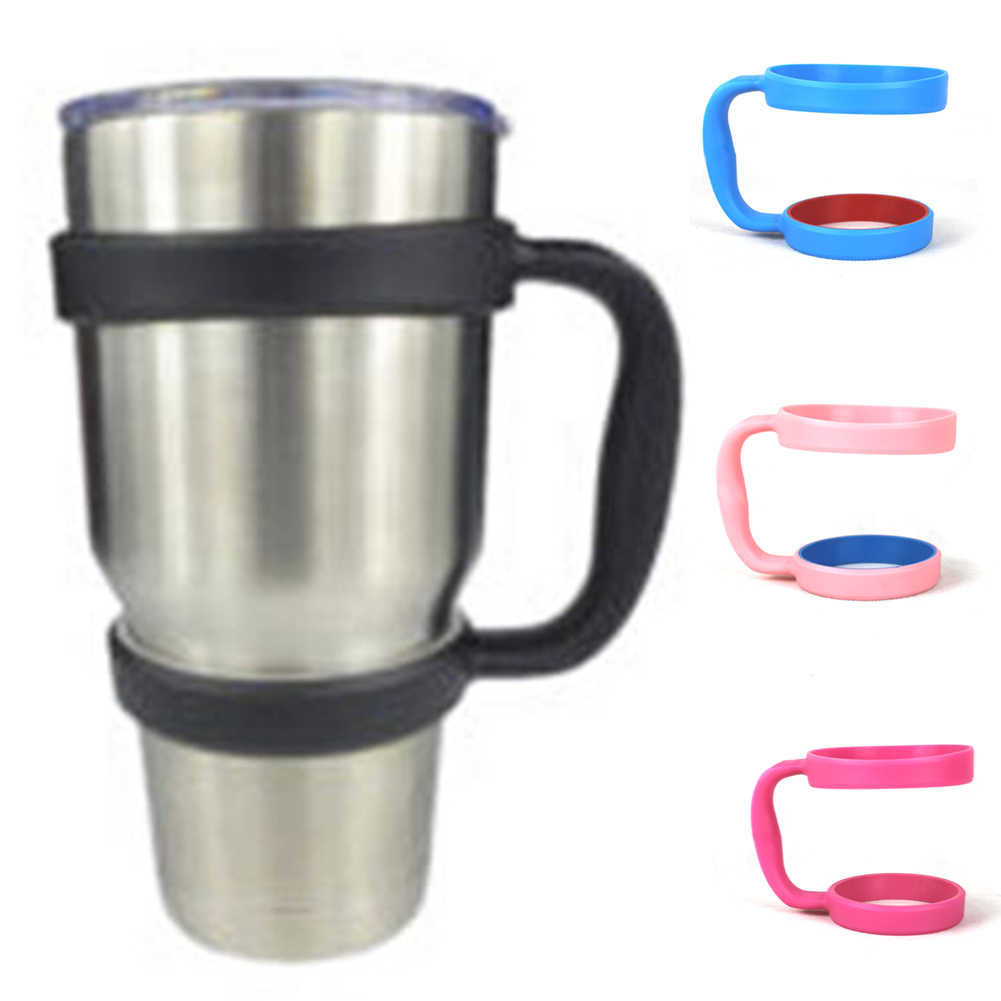 Handle for Rambler Tumblers  Black Insulation Cup Holder Travel Camping Outdoor