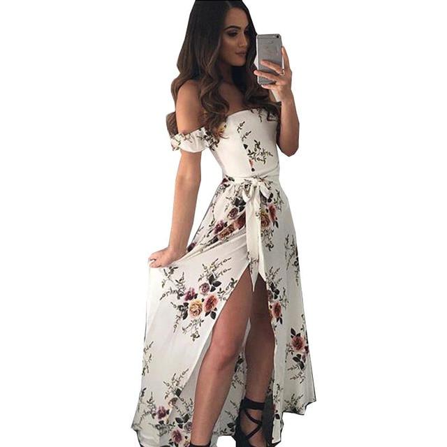 09b6c08520094 US $13.68 |Aliexpress.com : Buy 2018 New dress long summer Hot Exclusive  Explosive Sexy Print Wrap Bra Backless Belt Side Slit womens dresses  vestidos ...