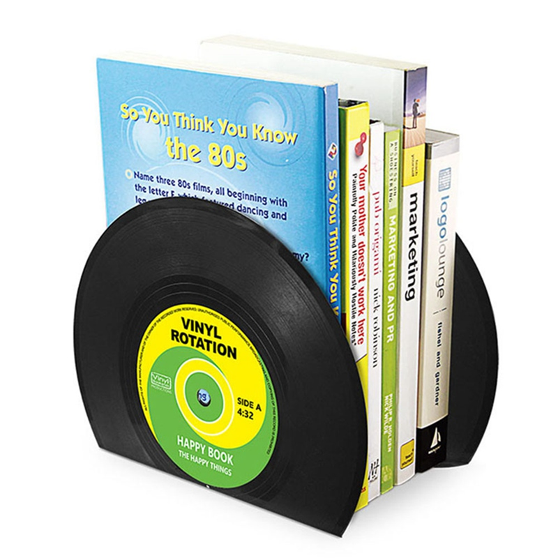 Retro Record Bookends Vinyl Shelves Bookends Desk Organizer Desktop Book Holder School supplies Stationery Office AccessoriesRetro Record Bookends Vinyl Shelves Bookends Desk Organizer Desktop Book Holder School supplies Stationery Office Accessories