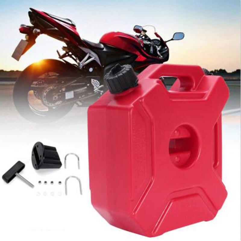 Réservoir de carburant de rechange rouge essence en plastique pour ATV UTV moto voiture 5L gaz nouvelle vente