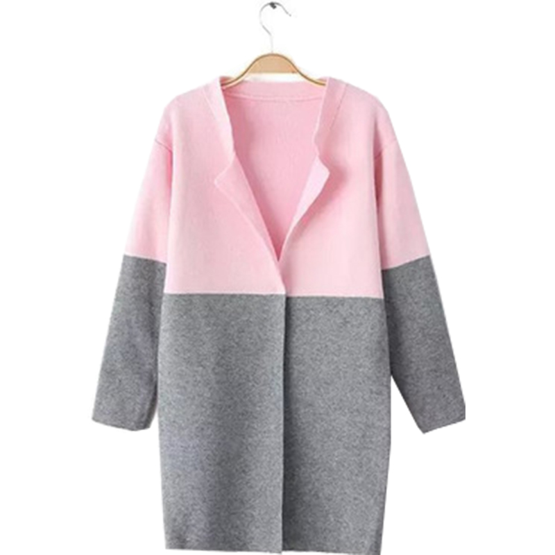 Women's Clothing Cardigans Lovely 2016 Spring Spell Color Sweater Women Long Cardigan Coat Female Dark Button Student Sweaters Jacket Clothing Vestidos Mmy041 Factory Direct Selling Price