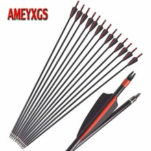 9/12pcs Archery Fiberglass Arrow Spine 500 31.5 inch Composite Shaft For Recurve/Compound/Longbow Shooting