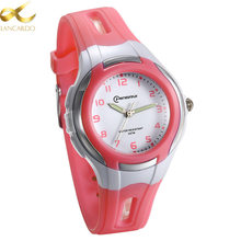 Lancardo Fashion Casual Sweet Children Watches 30M Waterproof Quartz Wristwatches Jelly Kids Clock Boys Girls Students Watch