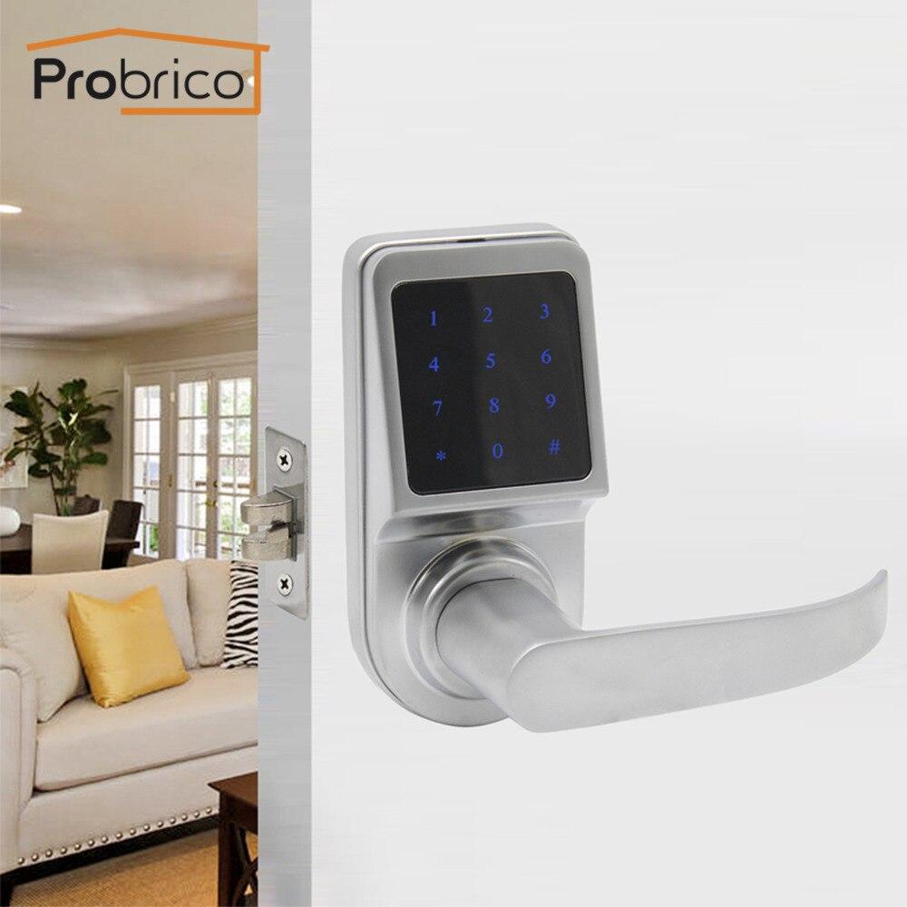 Probrico Digital Electronic Door Lock Key & TM Card & Password Zinc Alloy Lever Locks Anti-theft Intelligent Exterior Lock