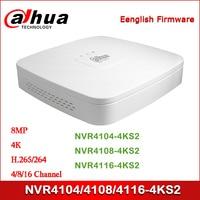 Dahua NVR4104 4KS2 NVR4108 4KS NVR4116 4KS2 4/8/16 Channel Smart 1U 4K&H.265 Lite Network Video Recorder