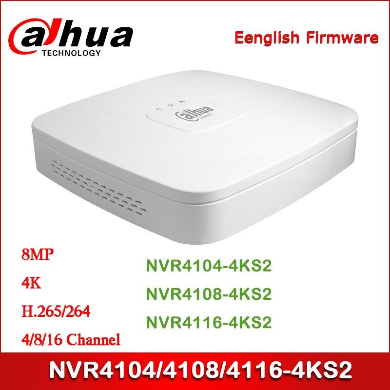 Güvenlik ve Koruma'ten Gözetleme Video Kaydedici'de Dahua NVR4104 4KS2 NVR4108 4KS NVR4116 4KS2 4/8/16 kanal akıllı 1U 4K ve H.265 Lite ağ Video kaydedici title=