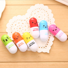 Cute Pill Ball Pen Cap Original Pearl Retractable Student Mini Portable Cartoon