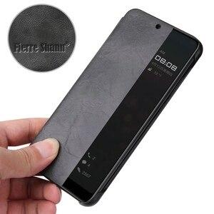 Image 5 - Funda para Huawei Mate10 P20 Pro Smart View, Funda de cuero de lujo, Funda de teléfono Etui, accesorios, carcasa para dormir, despertar por la ventana