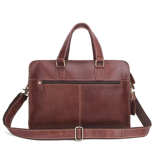 32c5fb317b9 Fashion Men Handbags Briefcase Genuine Leather Shoulder Man Bags Large Travel  Men S Briefcases 15 Inches