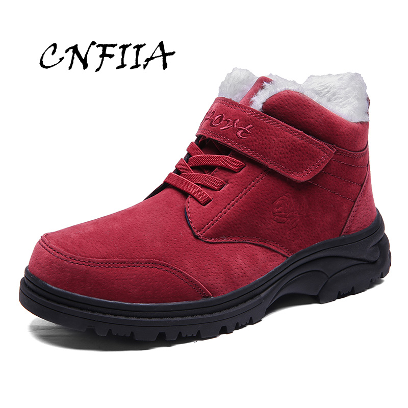 CNFIIA Shoes Woman Casual Sneakers Women Shoes Red Gray Black Purple 2018 Winter Female Fur Warm Footwear Plus Size 41 42 43 44 eofk women ballet flats women s flat shoes casual cow suede leather loafers shoes woman butter fly slip on solid ladies shoes