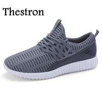 Thestron 2016 Hot Sale Mens Running Sneakers Gray Blue Running Trainers Mens Big Size Shoes Men
