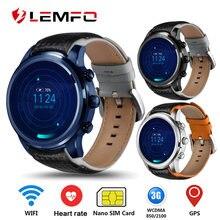 9d6b199c610 LEMFO LEM5 Pro Relógio Inteligente Android 5.1 2 GB + 16 GB Apoio relógio  dos homens 3G SIM Card WiFi GPS Monitor de Freqüência .