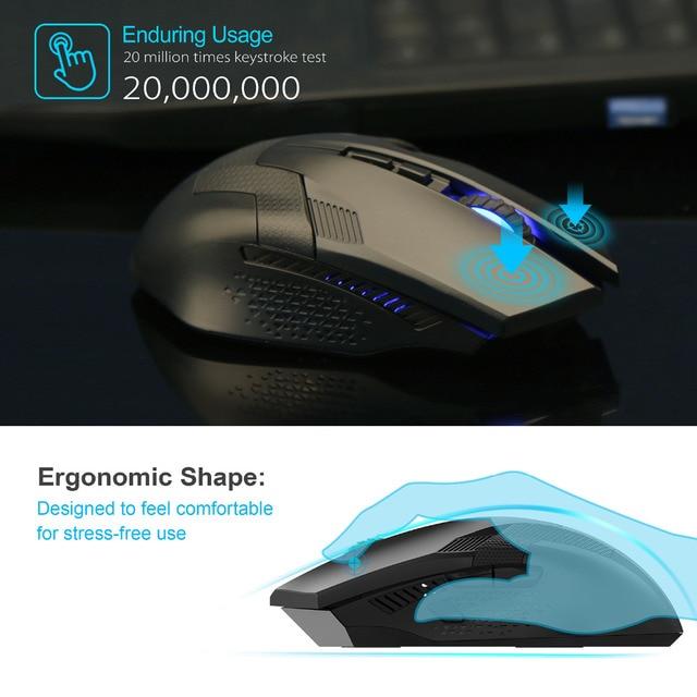 TeckNet Ergonomic Wireless Gaming Mouse 2