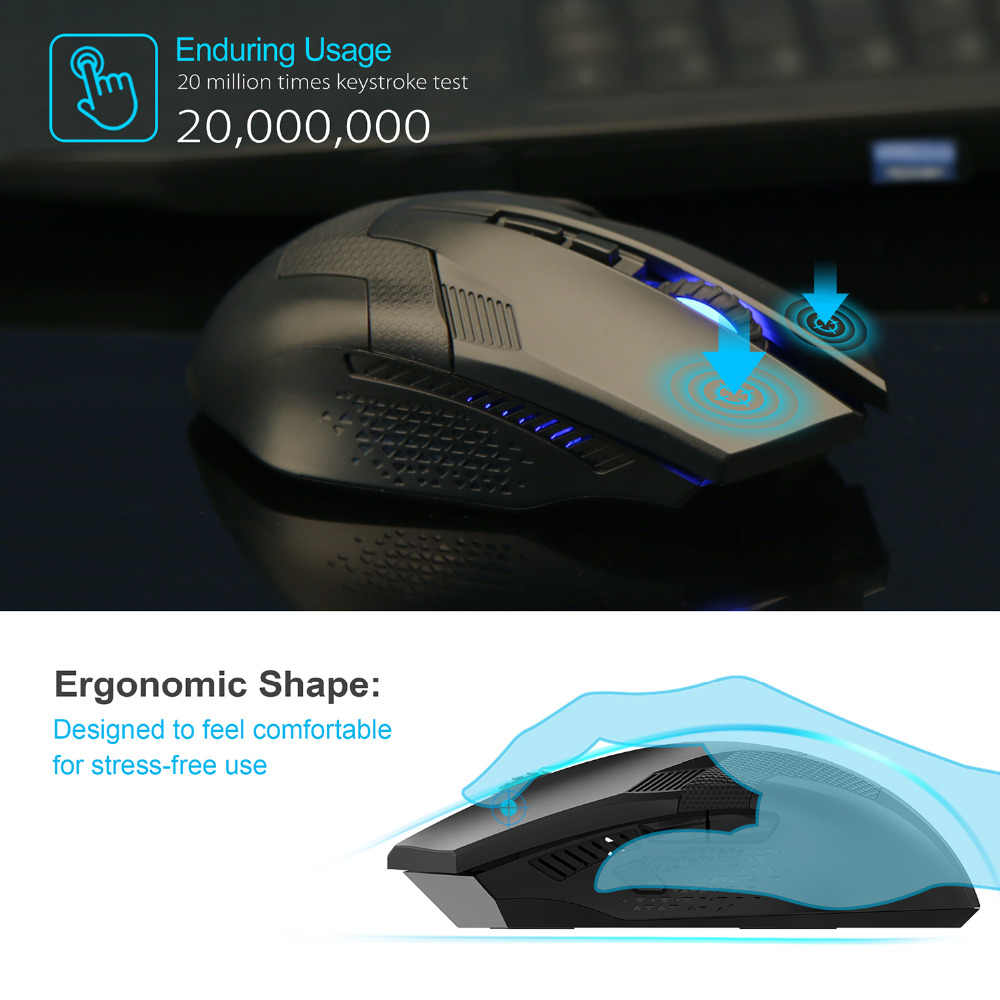 3d8efc6bdc6 ... TeckNet Ergonomic Mice Professional Optical Computer 2.4GHz Wireless  Gaming Mouse with Nano Receiver 8 Buttons ...