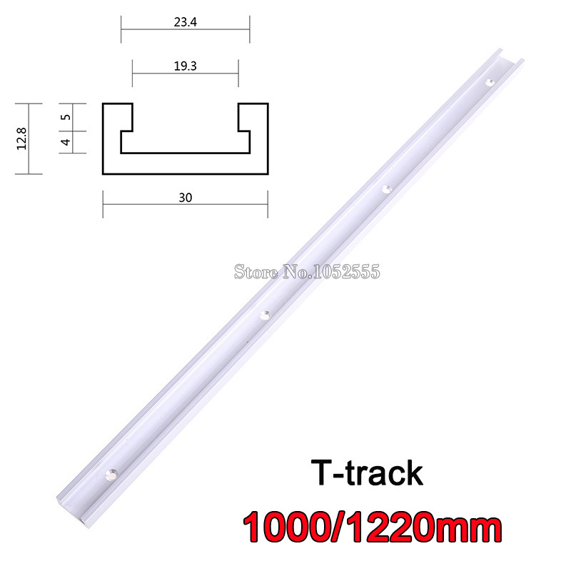 2PCS/lot 1000mm/1220mm T-track,Aluminium Miter Track/Slot for Table Saw, Router,Drill Press Jigs Woodworking Tools K867 high quality table saw router miter gauge sawing assembly ruler woodworking diy tools