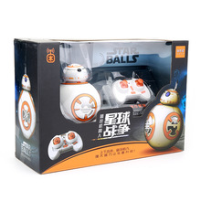 Star Wars RC Robots BB-8 Star Wars Compatible  Control BB8 robot Action Figure Robot Intelligent Child birthday gift toy 2 4g remote control bb 8 robot upgrade rc bb8 robot with sound and dancing action figure gift toys intelligent bb 8 ball toy 01