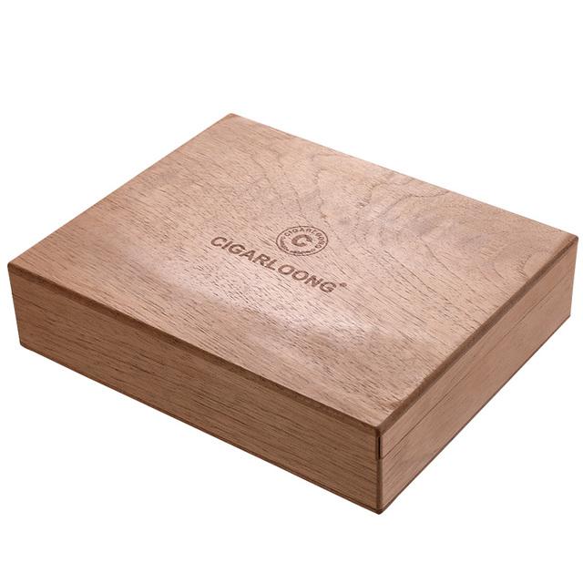 Luxury No Paint Large Size Fragrance Cedar Cigar Humidor Nice Storage Box Log Cigar Alcoholize Box