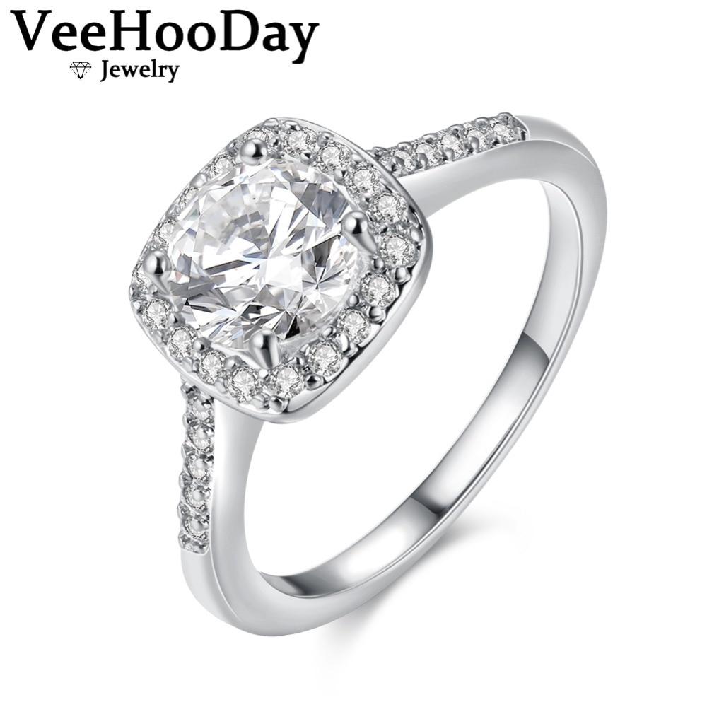 Square Rings For Women Elegant Wedding Ring Austrian Crystal Ladies Engagement Girls Jewelry Silverrose Goldgold Color: Silver Rose Ring Wedding At Websimilar.org