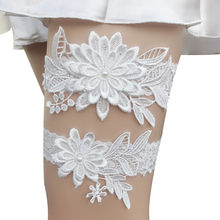 Wedding Decoration Bridal Garter Lace Garter Set Wedding Garter Casamento Floral Garter Belt Sexy Lady Lace & Pearls Style(China)