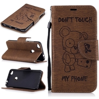 Bear Print Luxury Wallet Leather Case With Card Holder Pouch Cover For Huawei P8 Lite 2017 Honor 8 P10 P9 Lite Y3 II Y5 II 5A