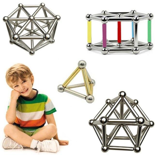 Magnetic Toys Magic Sticks Stress Fidget Toy Building Blocks Good as Birthday Gift NdFeB Rods Iron Balls Drop Shipping