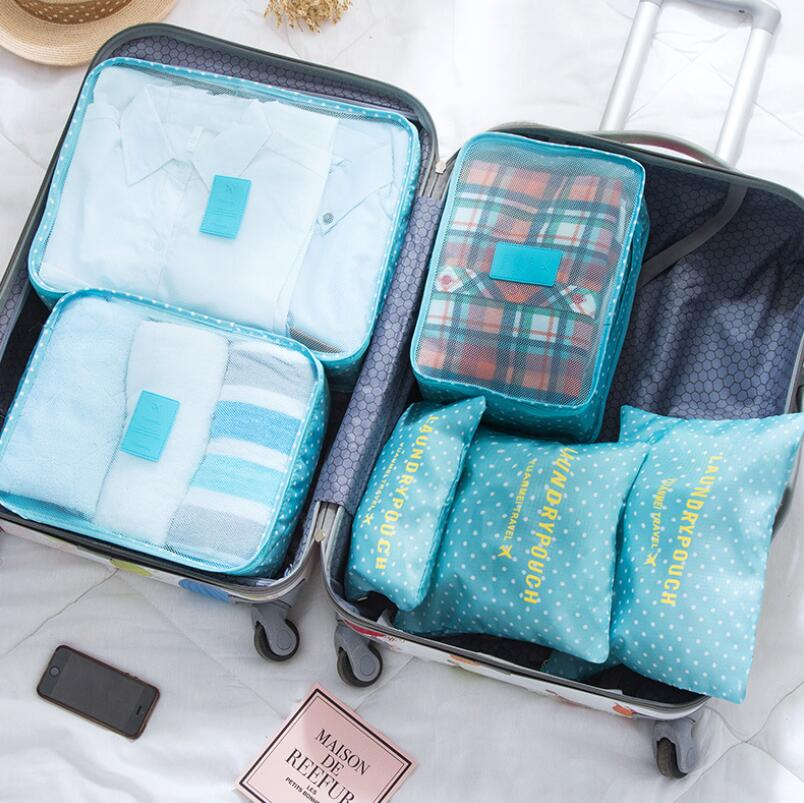 Image 2 - 6PCS Korean Style Travel Portable Houseware Collection Storage Bag Clothes Underwear Finishing Bags Bed Stprage Underbed Nylon-in Foldable Storage Bags from Home & Garden