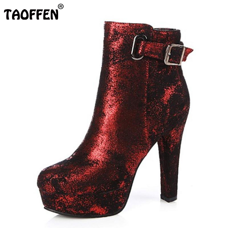New Fashion Women Round Toe Platform Ankle Boots Woman Sexy Buckle High Heel Shoes Ladies Brand Zipper Heels Botas Size 34-43 стоимость