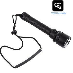 Image 5 - 6000lums Diving Flashlight Torch 5*T6 Scuba Dive Torch UnderWater 220m Depth Waterproof Led Flashlights Lantern light
