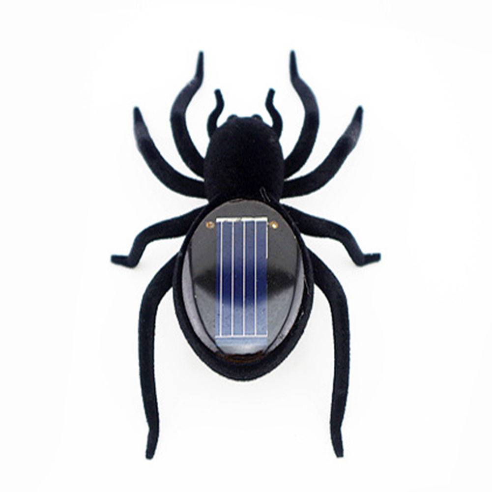 Novelty Creative Gadget Solar Power Robot Insect Car Spider For Childrens Christmas Toys Gifts Xmas Festival