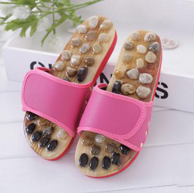 Natural / pebble / foot massage slippers point massage shoes men and women couple home skid / shoes / tb20903