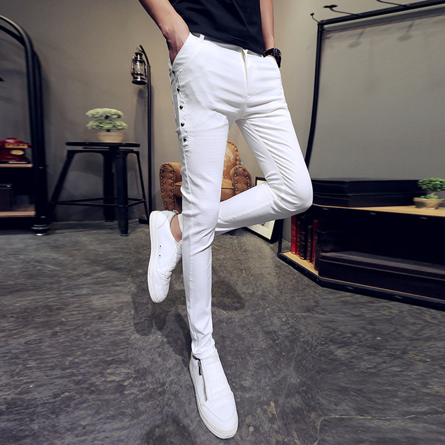Brand New Men Summer Pants Fashion 2020 All Match Skinny Pants Men Streetwear Casual Trousers Men Hot Sale 2