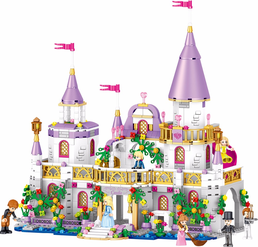 Girls City Princess Villa Windsor Castle Building Blocks Sets Bricks Classic Model Kids Gift Toys Friend Compatible with Legoing