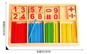 Image 3 - Montessori jouets éducatifs en bois pour enfants, Puzzle pour apprentissage précoce, jeu de comptage de nombres pour enfants, outil denseignement GYH