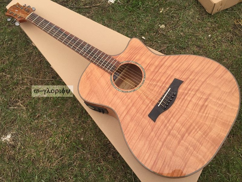 whole sale 4 piece professional acoustic electric guitar with free case free shipping цена 2017