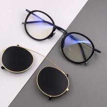 Vintage Steampunk Round Polarized Sunglasses Men 2019 Retro Clip On Punk Sunglass Women Brand Designer Sun Glasses UV400 Oculos стоимость