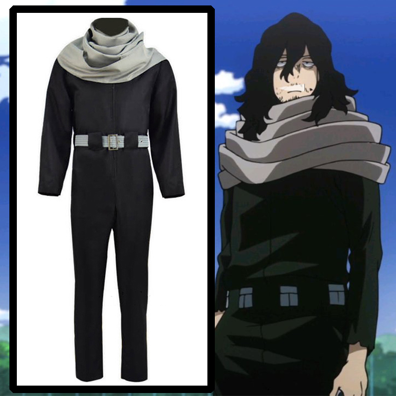 Comic Anime My Hero Academia Cosplay Costumes Aizawa Shouta Cosplay Costume Eraser Head Cosplay Clothes Men Cartoon Black Outfit