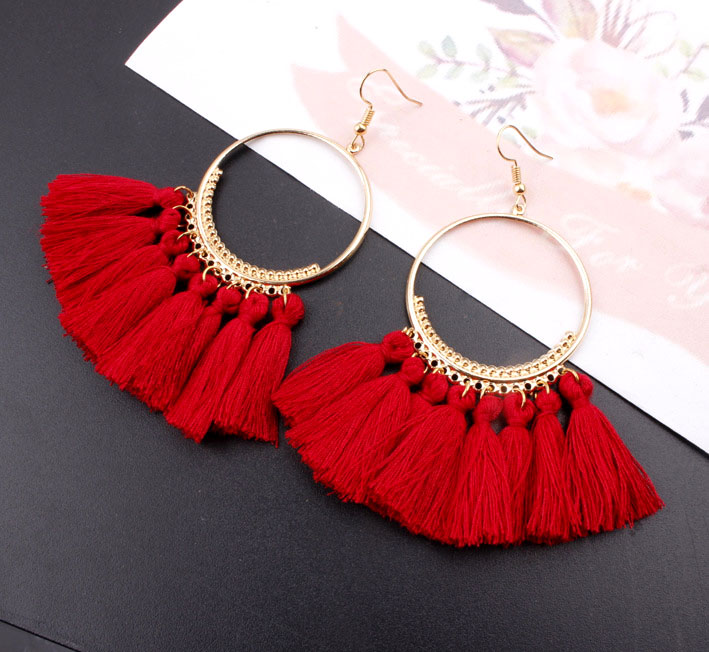 Bohemian Long Tassel Earrings For Women 2018 Fashion Jewelry Gold Color Pendientes Fringe Dangle Earrings Female Wedding Gift(China)