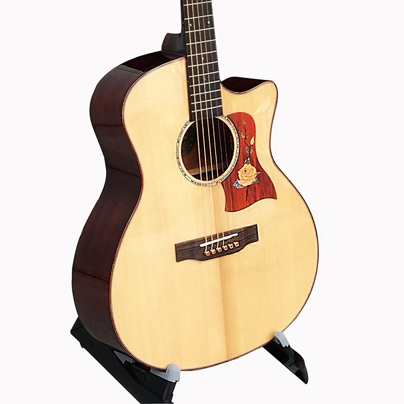Guitar Top Solid Acoustic Electric Steel-String Balladry Folk Pop Flattop 41 Inch Guitarra Picea Asperata Light Cutaway Electro waterproof thicken 40 41 folk flattop balladry acoustic classical electric guitar bass bag case backpack bass accessories gig