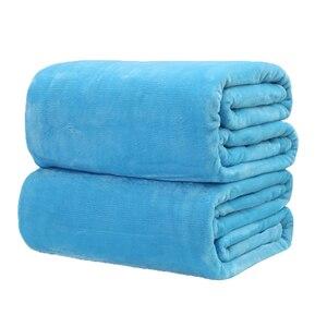 Image 3 - CAMMITEVER Manta de tela suave para el hogar, mantas de franela de Color sólido, muy cálidas, para sofá/cama/mantas de viaje, sábanas