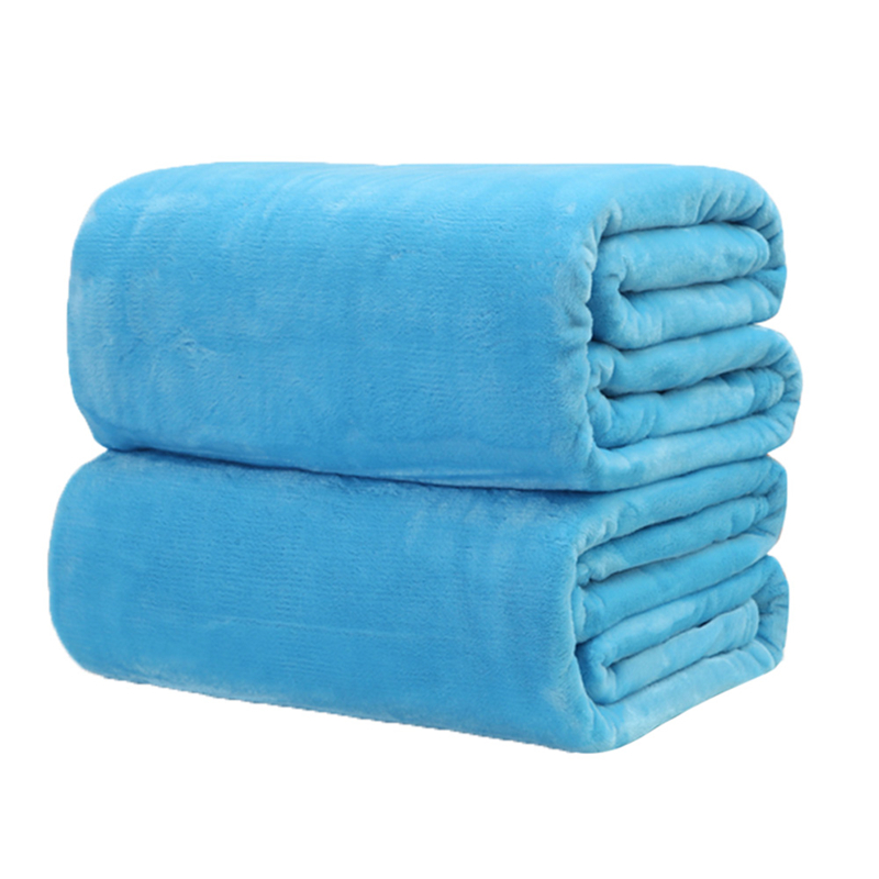 Image 3 - CAMMITEVER Super Warm Soft Home Textile Blanket Solid Color Flannel Blankets Throw on Sofa/Bed/Travel Plaids Bedspreads Sheets-in Blankets from Home & Garden