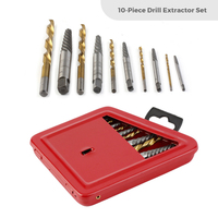 10pcs Screw Extractor Drill Bits Guide Set Twist Drill Bit Broken Bolt Extractor Set Left Hand Alloy Extractors Drill