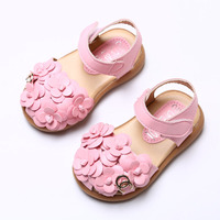2017 High quality Baby girl sandals Hollow out princess shoes Package toe sandals Non slip soft bottom moccasins